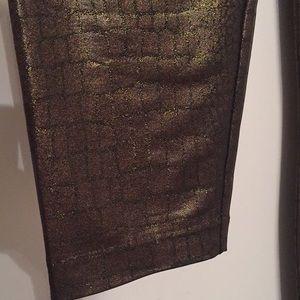 BCBG Maxazria gold legging pant size S